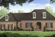 European Style House Plan - 3 Beds 2 Baths 1600 Sq/Ft Plan #21-258 Exterior - Front Elevation