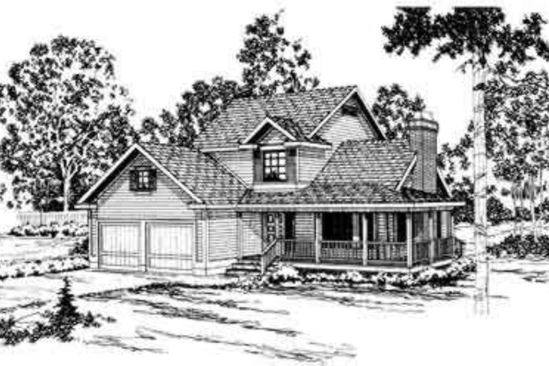 Country Exterior - Front Elevation Plan #124-151 - Houseplans.com