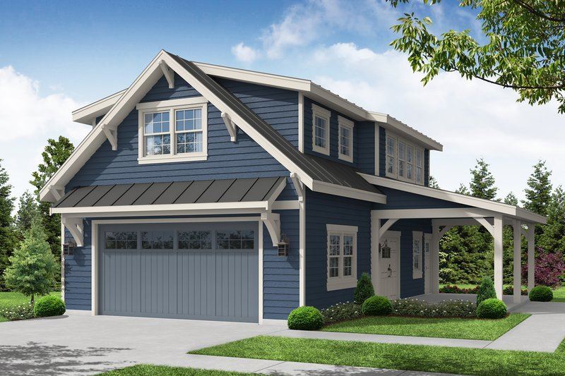 Dream House Plan - Craftsman Exterior - Front Elevation Plan #124-1222