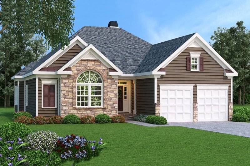 Traditional Exterior - Front Elevation Plan #419-153 - Houseplans.com