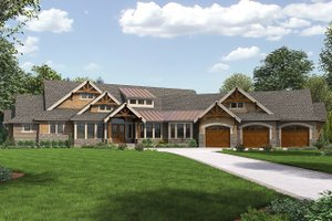 Dream House Plan - Cottage Exterior - Front Elevation Plan #132-568