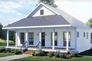 Traditional Style House Plan - 2 Beds 1 Baths 890 Sq/Ft Plan #44-223 Exterior - Other Elevation