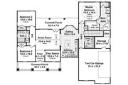 Craftsman Style House Plan - 3 Beds 2 Baths 1637 Sq/Ft Plan #21-353 Floor Plan - Main Floor Plan