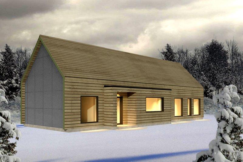 Modern Style House Plan - 2 Beds 2 Baths 1807 Sq/Ft Plan #497-33