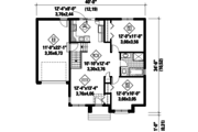 Contemporary Style House Plan - 2 Beds 1 Baths 920 Sq/Ft Plan #25-4275 Floor Plan - Main Floor Plan