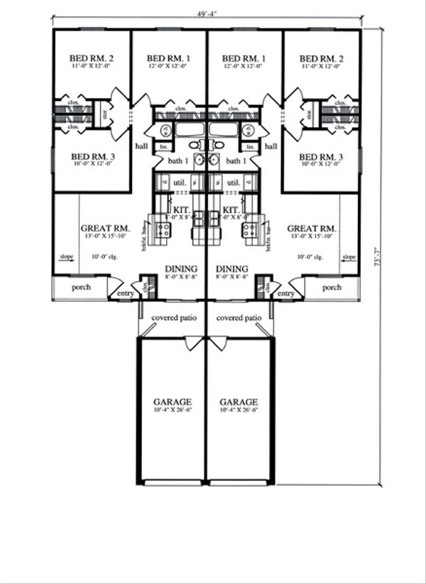 Country Floor Plan - Main Floor Plan Plan #42-374
