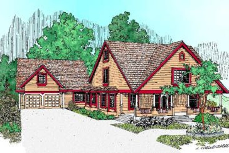 Bungalow Style House Plan - 4 Beds 2.5 Baths 2012 Sq/Ft Plan #60-227 Exterior - Front Elevation