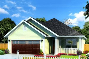 Dream House Plan - Cottage Exterior - Front Elevation Plan #513-2086