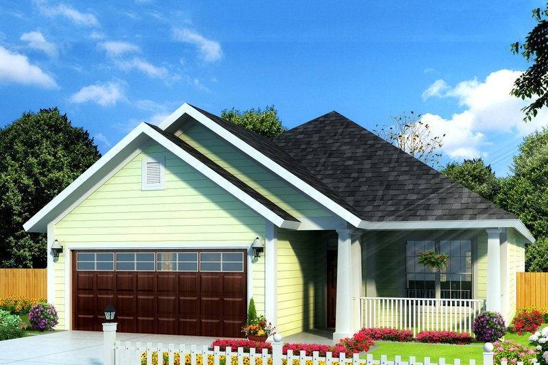 Cottage Exterior - Front Elevation Plan #513-2086