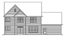 Dream House Plan - Country Exterior - Rear Elevation Plan #48-183