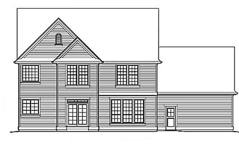 Country Exterior - Rear Elevation Plan #48-183 - Houseplans.com