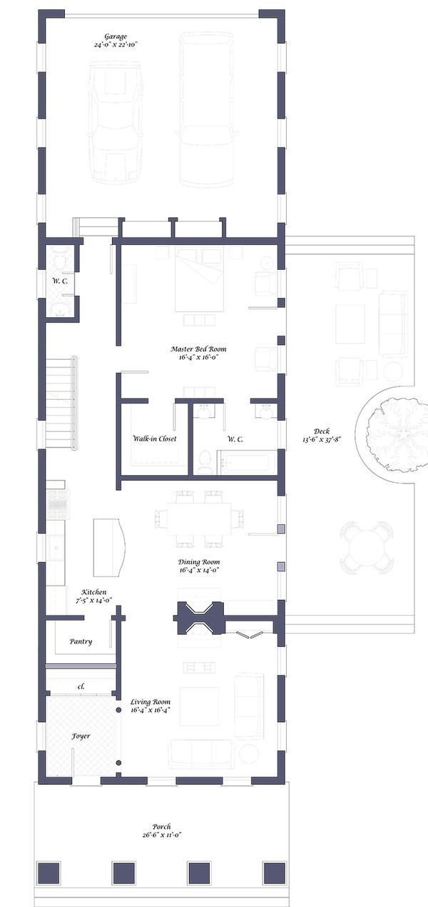 Classical House plan, traditional floor plan