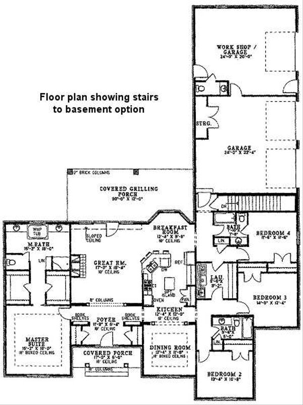 Traditional Floor Plan - Other Floor Plan Plan #17-648