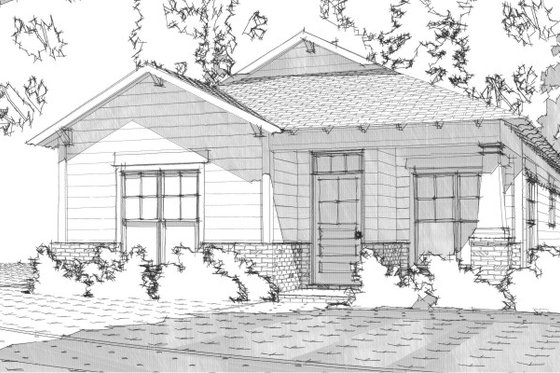 Bungalow Exterior - Front Elevation Plan #63-188