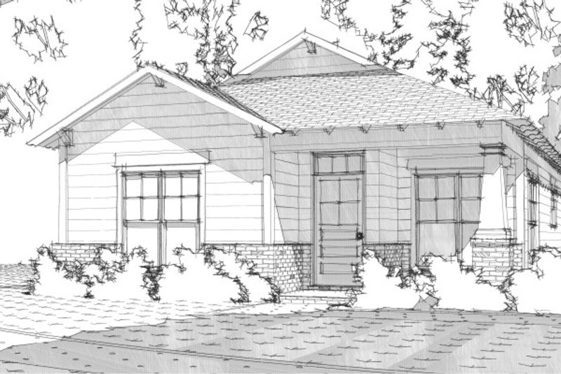 Bungalow Style House Plan - 3 Beds 2 Baths 1256 Sq/Ft Plan #63-188 Exterior - Front Elevation