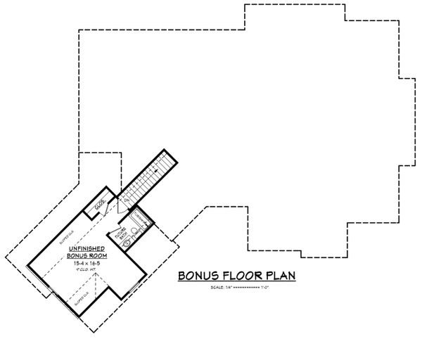 Farmhouse Floor Plan - Upper Floor Plan Plan #430-166