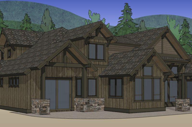 Craftsman Exterior - Rear Elevation Plan #892-4 - Houseplans.com