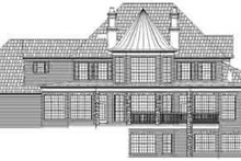 House Plan Design - European Exterior - Rear Elevation Plan #119-233