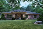 Mediterranean Style House Plan - 4 Beds 2 Baths 1649 Sq/Ft Plan #923-124 Exterior - Rear Elevation