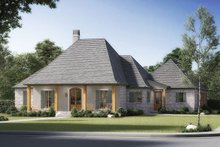 Southern Exterior - Front Elevation Plan #1074-21