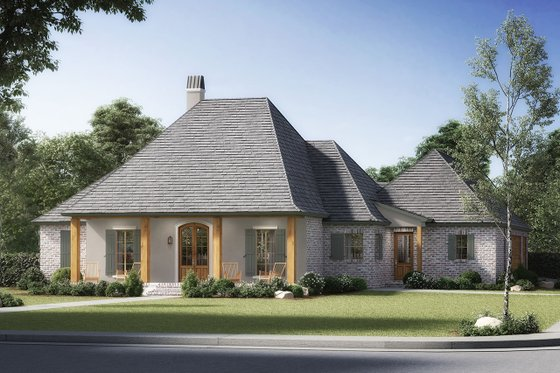 Home Plan - Southern Exterior - Front Elevation Plan #1074-21