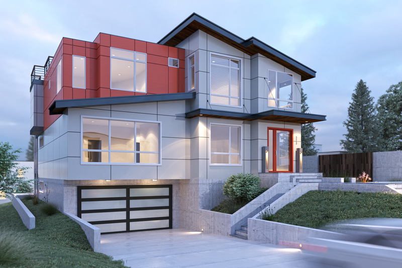 House Plan Design - Contemporary Exterior - Front Elevation Plan #1066-35