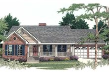 Dream House Plan - Ranch Exterior - Front Elevation Plan #406-241