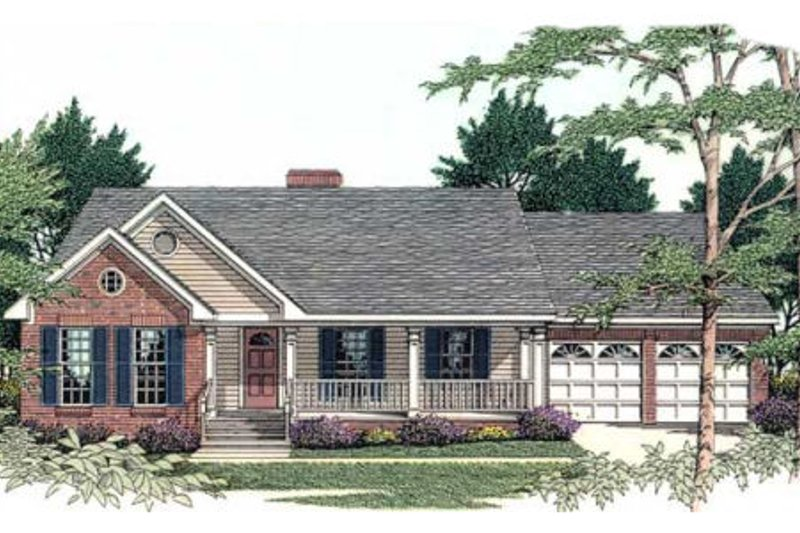 Ranch Exterior - Front Elevation Plan #406-241