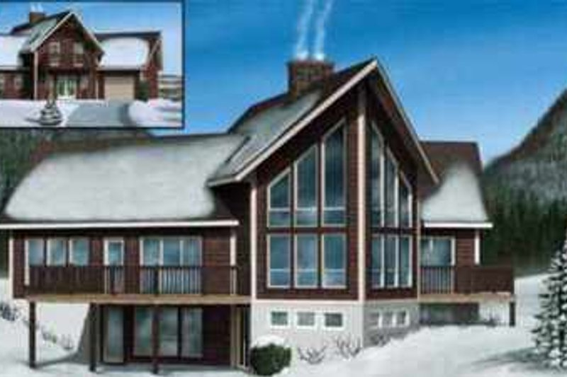 House Plan - 3 Beds 3 Baths 2006 Sq/Ft Plan #25-2289 Exterior - Front Elevation