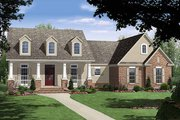 Country Style House Plan - 4 Beds 3 Baths 2250 Sq/Ft Plan #21-196 Exterior - Front Elevation
