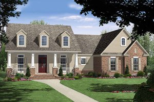 Country style Plan 21-196 front elevation
