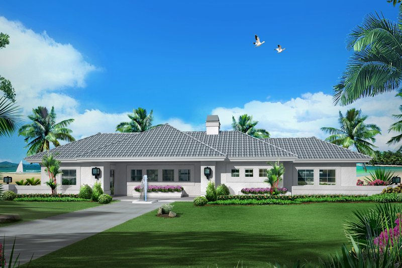 Exterior - Front Elevation Plan #57-602 - Houseplans.com