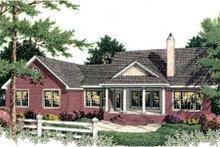 Colonial Exterior - Rear Elevation Plan #406-129