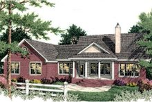 Dream House Plan - Colonial Exterior - Rear Elevation Plan #406-129