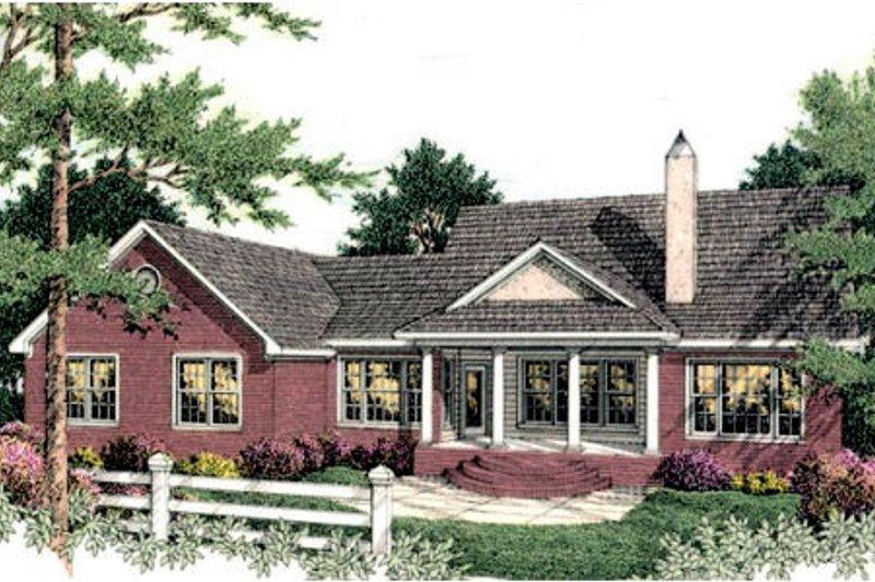 Colonial Exterior - Rear Elevation Plan #406-129 - Houseplans.com