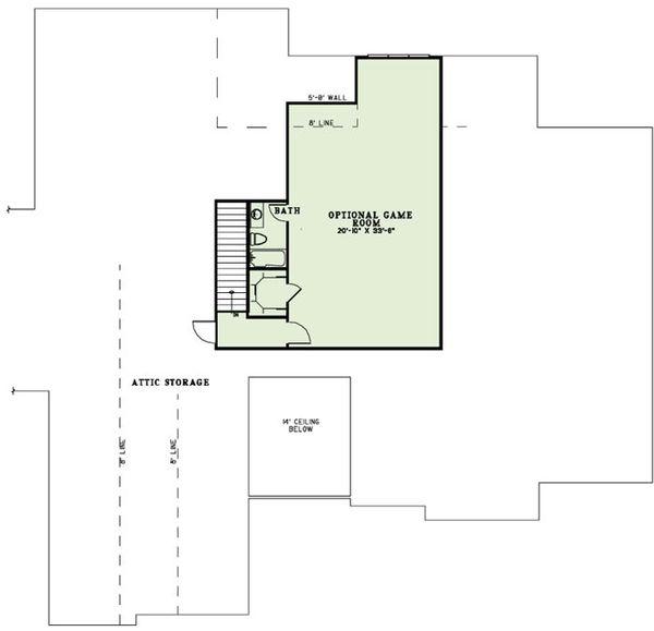 European Floor Plan - Upper Floor Plan Plan #17-2491