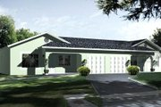 Adobe / Southwestern Style House Plan - 2 Beds 2 Baths 1800 Sq/Ft Plan #1-1354 Exterior - Front Elevation