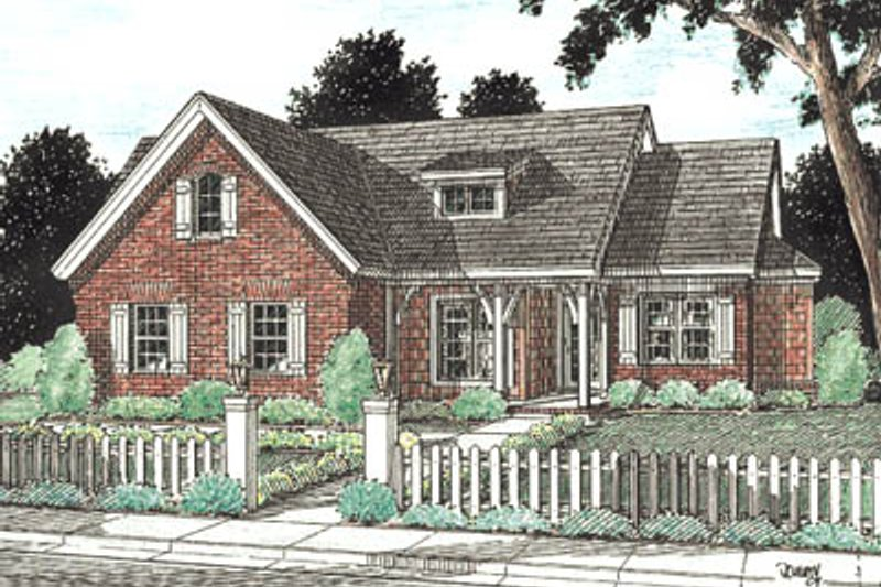 Architectural House Design - Traditional Exterior - Front Elevation Plan #20-184