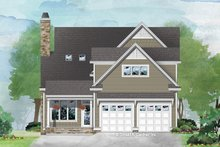Dream House Plan - Traditional Exterior - Rear Elevation Plan #929-1073