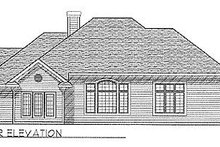 Dream House Plan - Traditional Exterior - Rear Elevation Plan #70-299