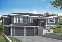 Dream House Plan - Prairie Exterior - Front Elevation Plan #124-1203