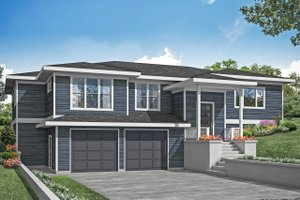 Prairie Exterior - Front Elevation Plan #124-1203