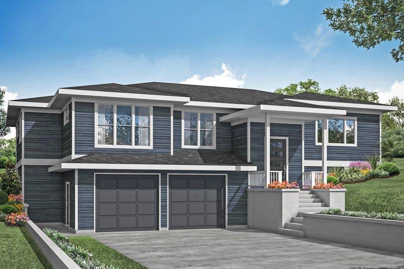 Home Plan - Prairie Exterior - Front Elevation Plan #124-1203
