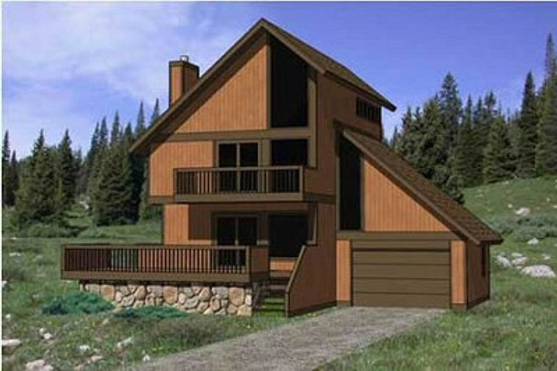 House Plan - 3 Beds 2 Baths 1513 Sq/Ft Plan #116-108 Exterior - Front Elevation