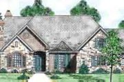 European Style House Plan - 4 Beds 4.5 Baths 4012 Sq/Ft Plan #52-179 Exterior - Front Elevation