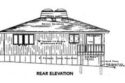 Contemporary Style House Plan - 2 Beds 1.5 Baths 1254 Sq/Ft Plan #312-764 Exterior - Rear Elevation