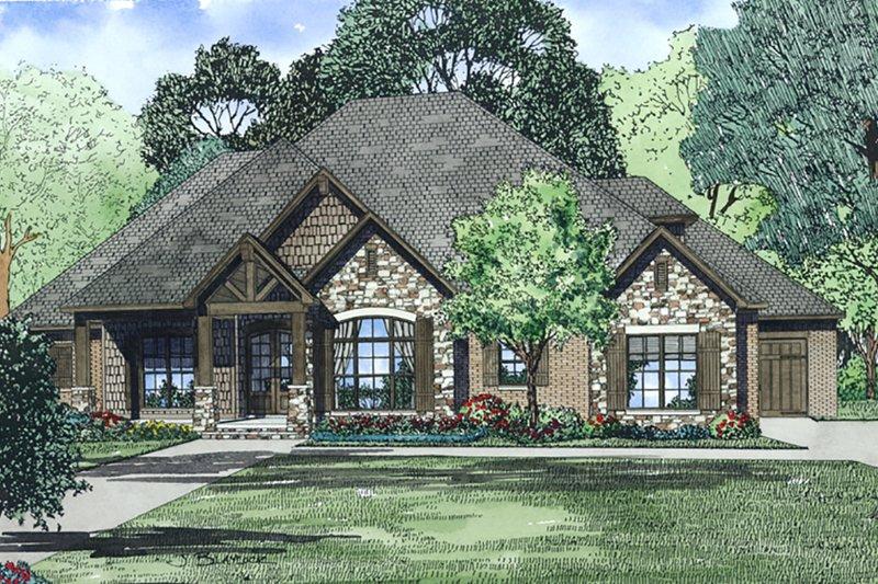 Dream House Plan - European, Front Elevation