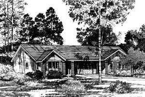 Ranch Exterior - Front Elevation Plan #303-123