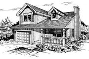 Traditional Style House Plan - 2 Beds 1.5 Baths 977 Sq/Ft Plan #50-211 Exterior - Front Elevation
