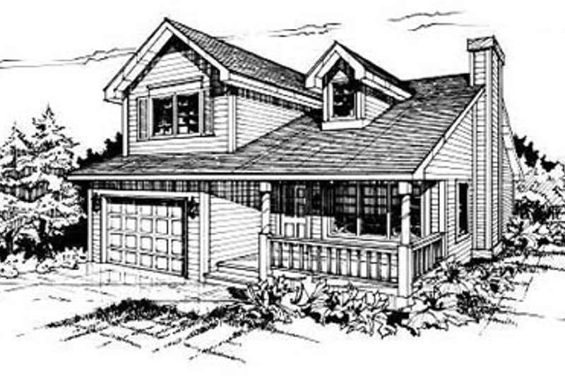 Traditional Style House Plan - 2 Beds 1.5 Baths 977 Sq/Ft Plan #50-211